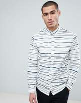 ONLY & SONS Slim Fit Shirt With Broken Stripe