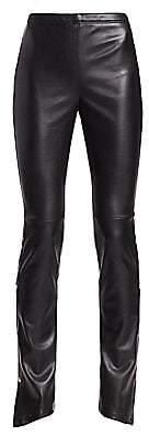 Alexander Wang Women's Faux Leather Trousers - Size 0