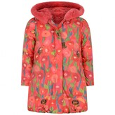 Oilily OililyGirls Red Hedgehog Print Cecil Coat
