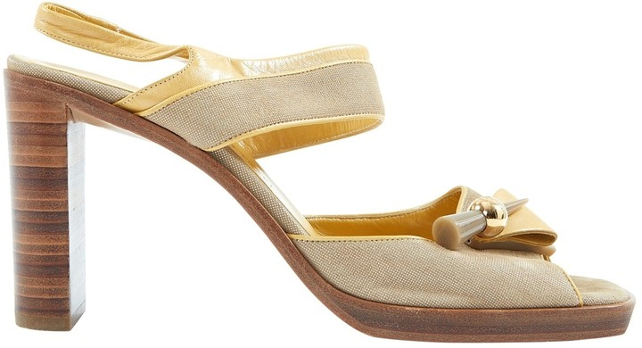 Louis Vuitton Beige Leather Sandals