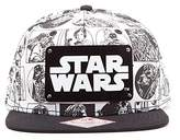 Star Wars Comic Book Strip with Metal Plate Logo Baseball Cap,One Size
