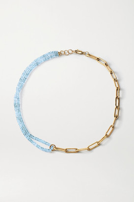 Loren Stewart Net Sustain Cybernetic Gold Vermeil Topaz Necklace