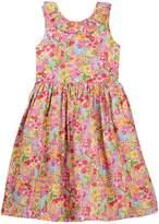 Oscar de la Renta Floral V-Back Dress (Little Girls & Big Girls)