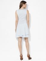 Lauren Ralph Lauren Ralph Striped Boatneck Tiered Dress