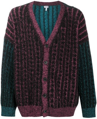 Loewe Cable-Knit Oversize Cardigan
