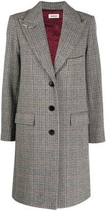 Zadig & Voltaire Mumy checked car coat