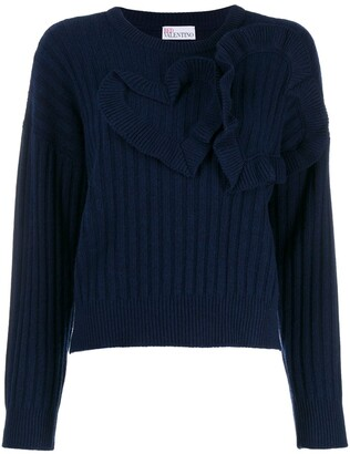 RED Valentino heart detailed jumper