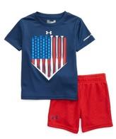 Under Armour Infant Boy's American Batter Heatgear T-Shirt & Shorts Set