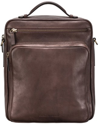 Maxwell Scott Bags Men S Italian Brown Leather Convertible Backpack