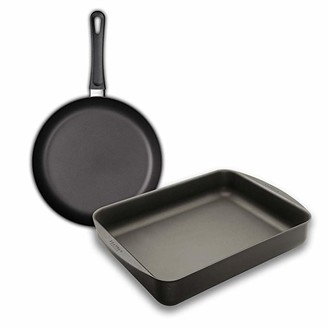Scanpan Classic 39x27cm Roasting Pan And Classic 28cm Fry Pan - Black