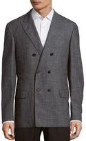 Brunello Cucinelli Long Sleeve Wool-Blend Coat