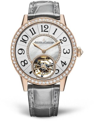 Jaeger-LeCoultre Rose Gold and Diamond Rendez-Vous Tourbillon Watch 39mm