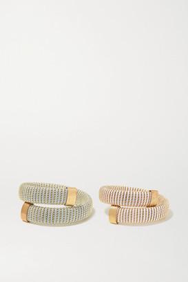 Carolina Bucci Caro Set Of Two Gold-plated And Cotton Bracelets