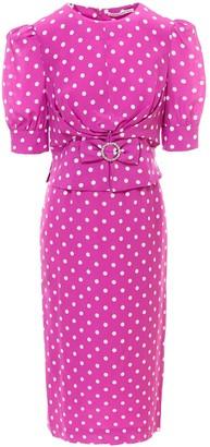 Alessandra Rich Polka-Dot Midi Dress