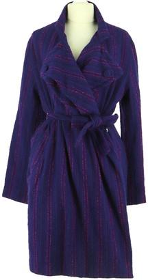 April May Purple Wool Coat for Women