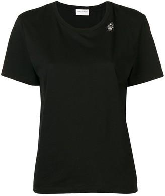 Saint Laurent round neck T-shirt