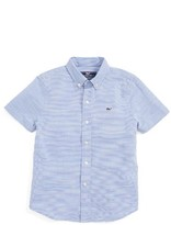 Vineyard Vines Boy's Norman Island Stripe Short Sleeve Woven Shirt