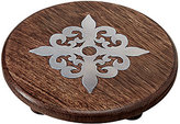 Mud Pie France Collection Fleur de Lis Wood & Metal Trivet