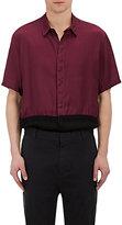 Robert Geller Men's Colorblocked Washed Satin Shirt