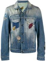 Etro embroidered motifs denim jacket