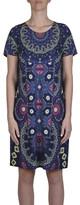 Jump Short Sleeve Lotus Print Dress