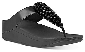 FitFlop Women's Fino Embellished Thong Wedge Sandals