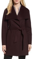 Tahari Women's 'Ella' Belted Double Face Wool Blend Wrap Coat