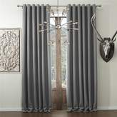 Cottontree Homesoft FirstHomer Solid Faux Linen Classic Room Darkening Grommet Top Curtain Draperies With Multi Size Custom (One Panel)