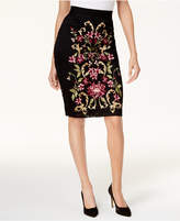 Thalia Sodi Embroidered Pencil Skirt, Created for Macy's