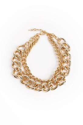 Trina Turk Kjl Links Double Chain Necklace