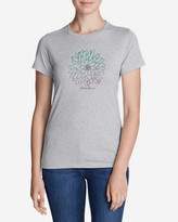 Eddie Bauer Women's Graphic T-Shirt - Ombré Flower