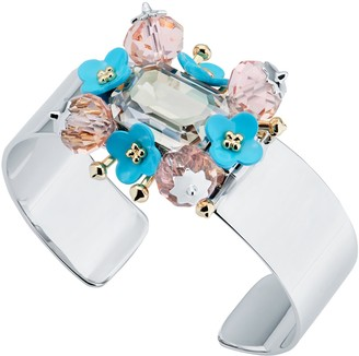 All We Are Turnip Flower Cluster Cuff - Pale Blue