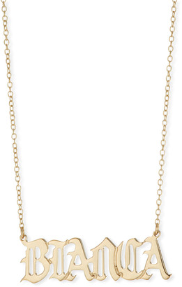 Jennifer Zeuner Jewelry Netta Personalized Gothic Nameplate Necklace