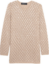 Pringle Sequinned open-knit cashmere sweater