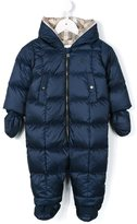 Burberry padded snowsuit - kids - Cotton/Feather Down/Acrylic/Spandex/Elastane - 9 mth