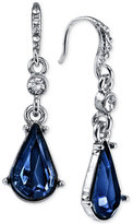 2028 Silver-Tone Blue Stone and Crystal Drop Earrings, a Macy's Exclusive Style