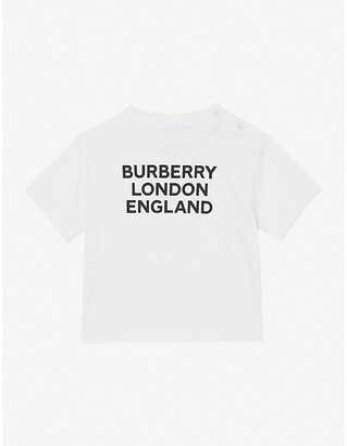 Burberry Logo-print stretch-cotton T-shirt 6 -24 months