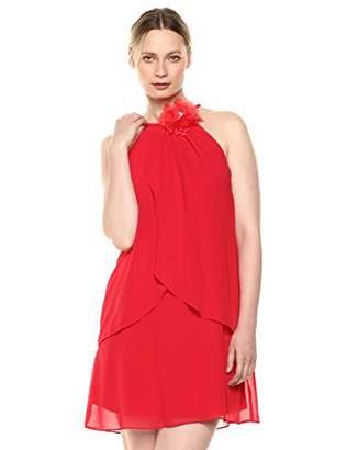 SL Fashions Women's Mesh Party Dress