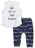 Petit Lem Baby Boys 3-24 Months Graphic Tank & Wave-Printed Pants Set