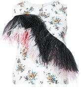 MSGM fringe detail floral top