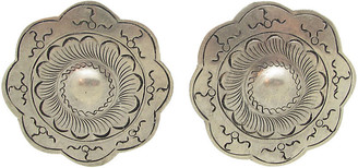 One Kings Lane Vintage Engraved Turkish Earrings - Thanks for the Memories