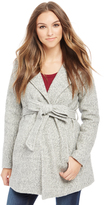 Motherhood Hooded Boucle Maternity Jacket