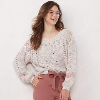 Lauren Conrad Women's Eyelet Pullover Sweater