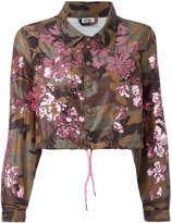 Gcds - sequined camouflage print cropped jacket - women - Polyamide - M