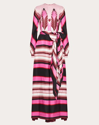 Valentino Printed Twill Jumpsuit Women Pink Silk 100% 40