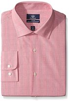 Dockers Red Plaid Fitted Shirt - Spread Collar