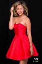 Jovani Shimmering Semi-Sweetheart Taffeta Prom Dress with Removable Straps JVN47317