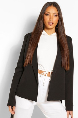 boohoo Tall Belted Woven Blazer