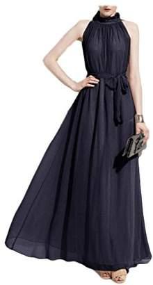 Couture Scott-Vincent Borba Haute Chiffon Halter Dress
