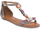 Jessica Simpson Lanning Glass Stone Embellished Slingback Sandals